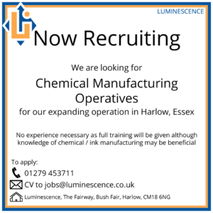 luminescence security inks recruiting